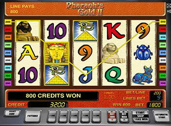 Обзор слота Pharaohs Gold 2
