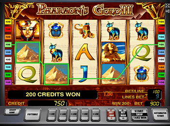 Правила слота Pharaohs Gold III